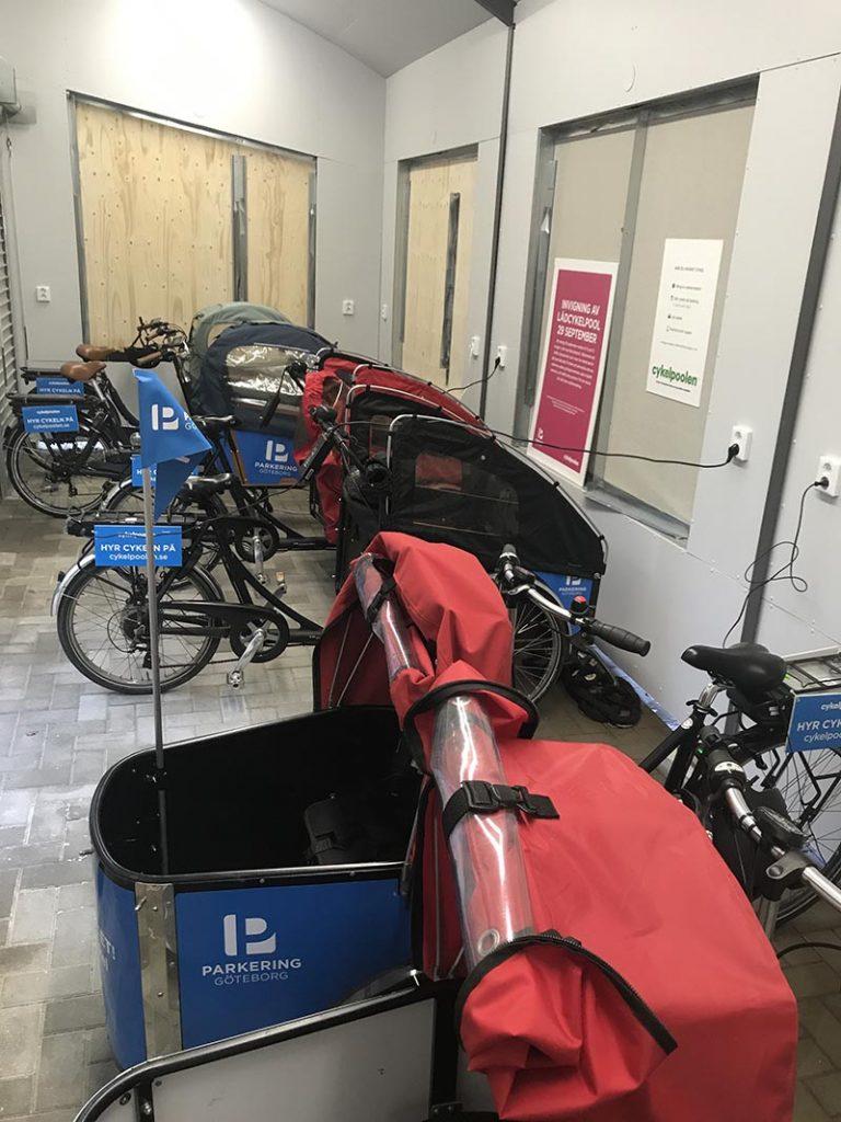Kville Lådcykelpool Alla cyklar