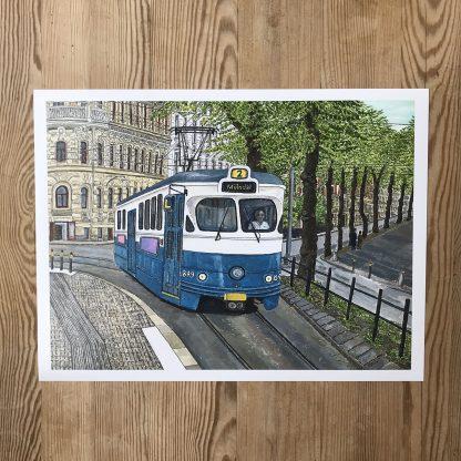 Lovisa Eklund – Spårvagn vid Vasaplatsen