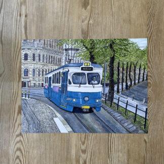 Lovisa Eklund - Spårvagn vid Vasaplatsen